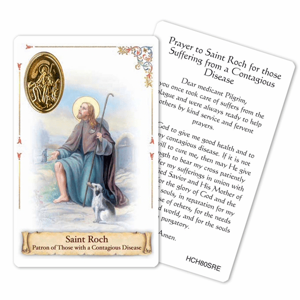 Prayer to St Roch for those Suffering Contagious Disease Holy Card by Cromo