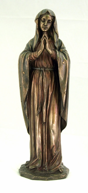 Praying Madonna Cold-Cast Bronze Statue by Veronese Collection