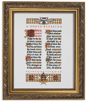 Primm A House Blessing Framed Print Picture with Gold Frame by Gerffert