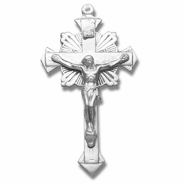 Radiant Sterling Silver Crucifix Rosary Part by HMH Religious