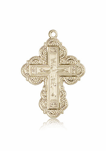Religious 14kt Gold Irene Cross Necklace by Bliss