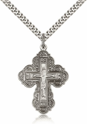Religious Sterling Silver Irene Cross Necklace by Bliss