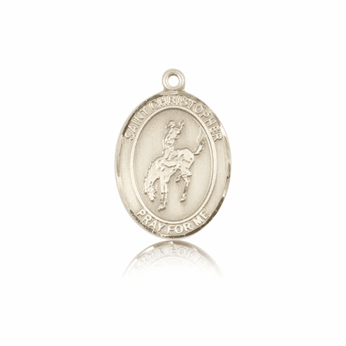 Rodeo St Christopher 14kt Gold-Filled Saint Necklace by Bliss