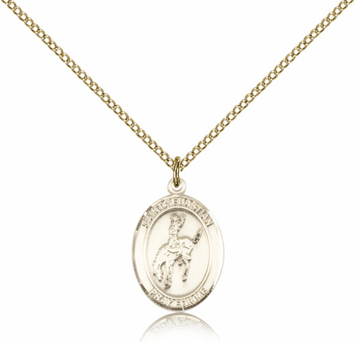 Rodeo St Sebastian 14kt Gold-Filled Saint Necklace by Bliss