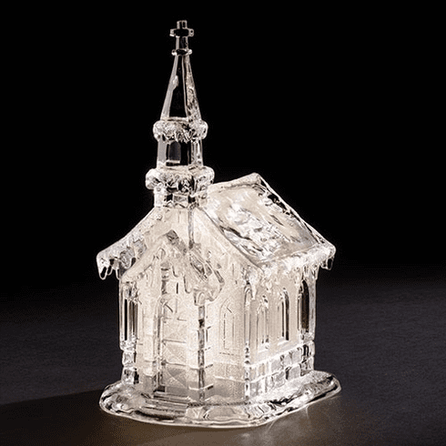 Roman 10in Warm White Church Acrylic LED Figure