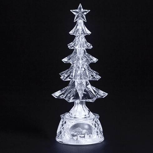 Roman 13in Christmas Tree Musical Acrylic LED Figure