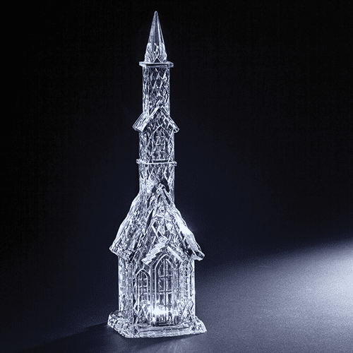 Roman 17in Tall Church Acrylic LED Figure