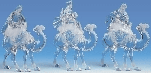 Roman Acrylic 3 Kings Nativity Set