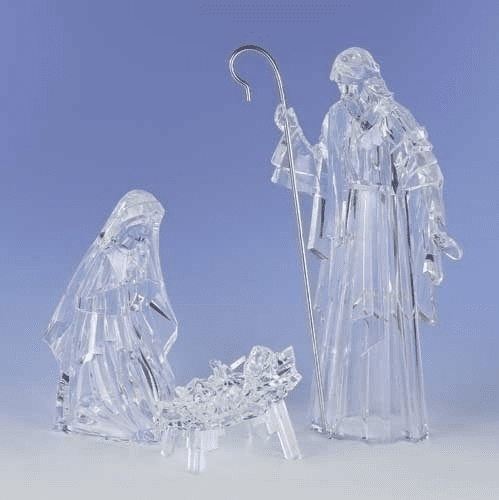 Roman Acrylic Holy Family Christmas Nativity Set