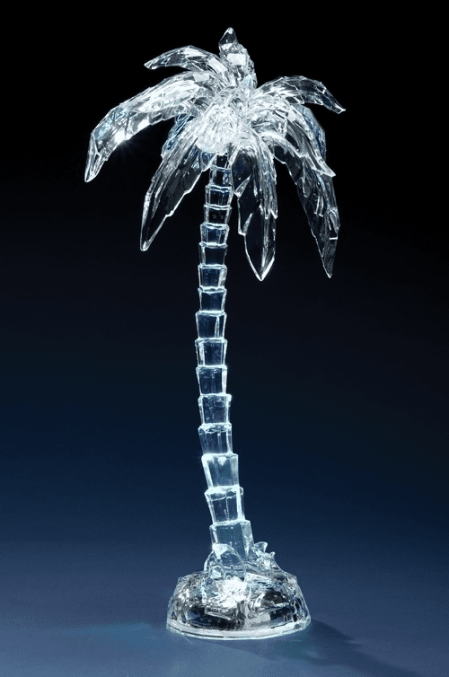 Roman Acrylic Palm Tree Figure