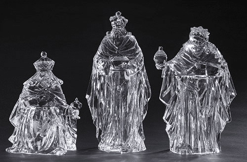 Roman Christmas 15in Acrylic 3pc Set Three Kings Nativity Figures