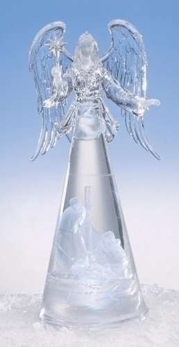 Roman Christmas Lited Angel with Holy Family Acrylic Figure