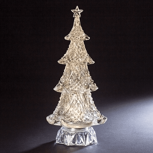 Roman Christmas Tree 14.5in Acrylic Musical LED Figure