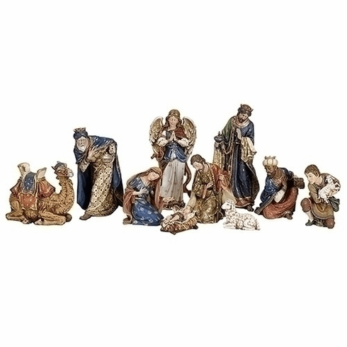 Roman Joseph Studio 10pc Ornate Christmas Nativity Set