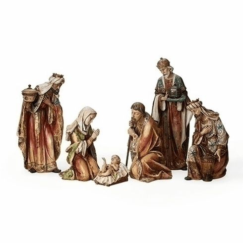 Roman Joseph Studio Resin 6pc 5in to 20in Christmas Nativity Set