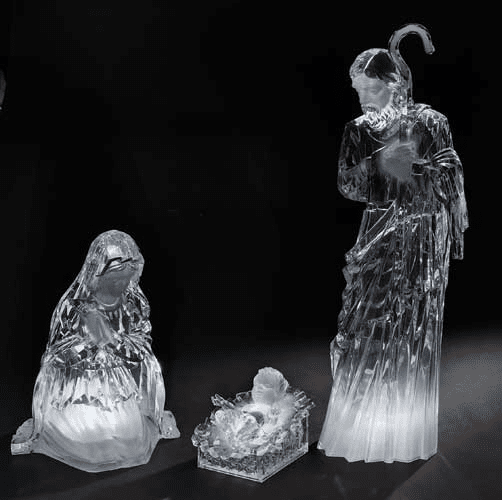 "Roman Large 23.5"" LED Acrylic Christmas Nativity Set"