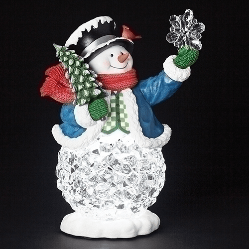 Roman Led 13in Snowman with Ice Belly Musical with Christmas Songs