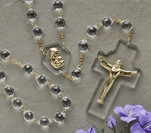 Roman Risen Christ with Madonna and Child Wall Rosary