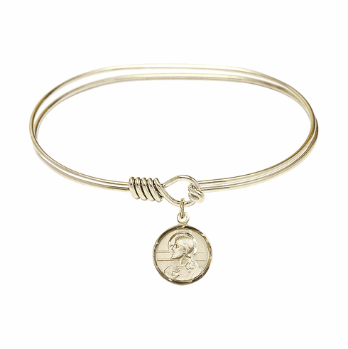 Round Eye Hook Bangle Bracelet Scapular 14kt Gold-filled Charm by Bliss Mfg