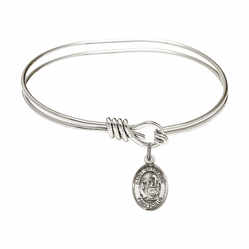 Round Eye Hook St Catherine of Siena Bangle Charm Bracelet by Bliss