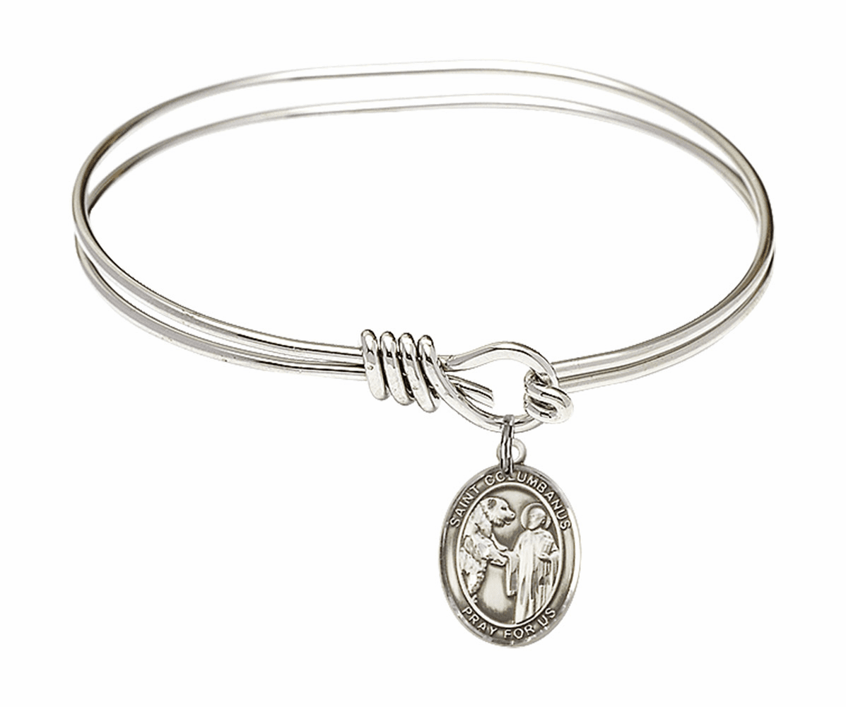Round Eye Hook St Columbanus Bangle Charm Bracelet by Bliss