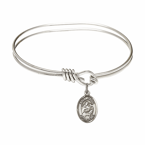 Round Eye Hook St Jason Bangle Charm Bracelet by Bliss