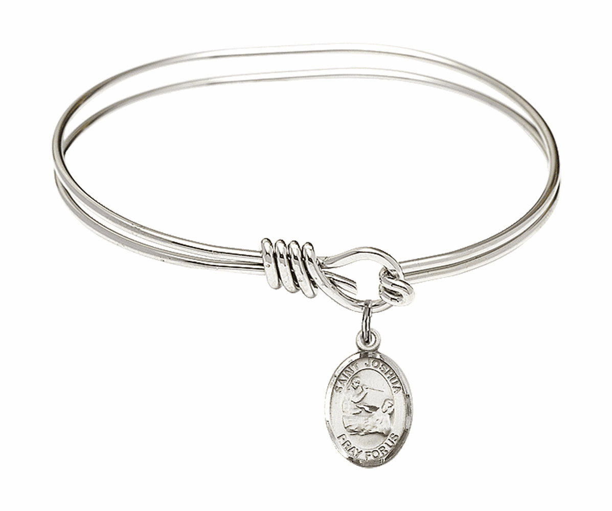Round Eye Hook St Joshua Bangle Charm Bracelet by Bliss