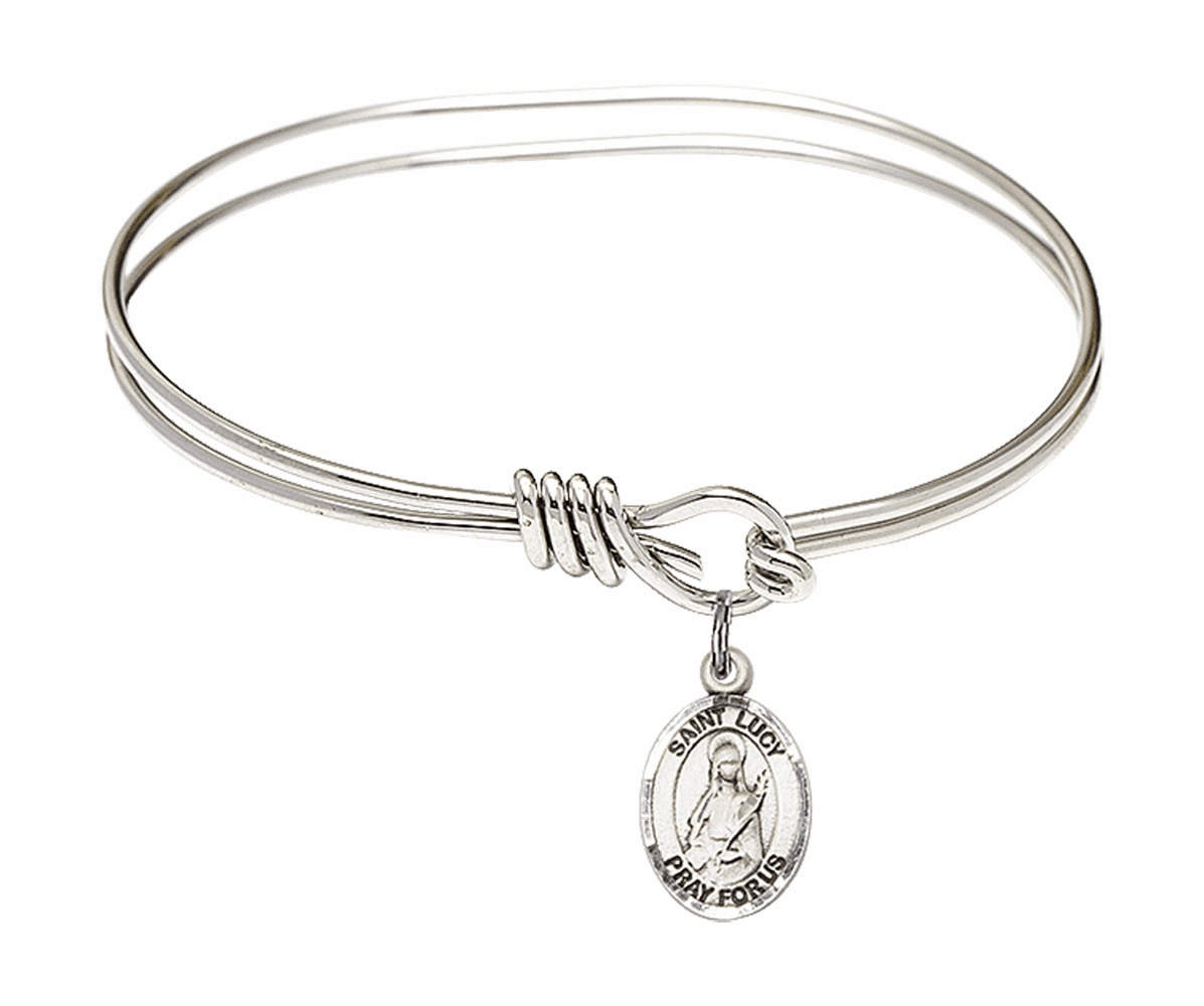 Round Eye Hook St Lucy Bangle Charm Bracelet by Bliss