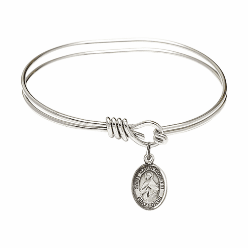 Round Eye Hook St Maria Goretti Bangle Charm Bracelet by Bliss