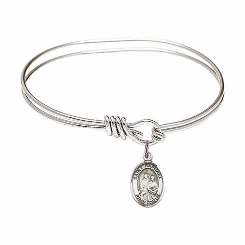 Round Eye Hook St Raphael the Archangel Bangle Charm Bracelet by Bliss