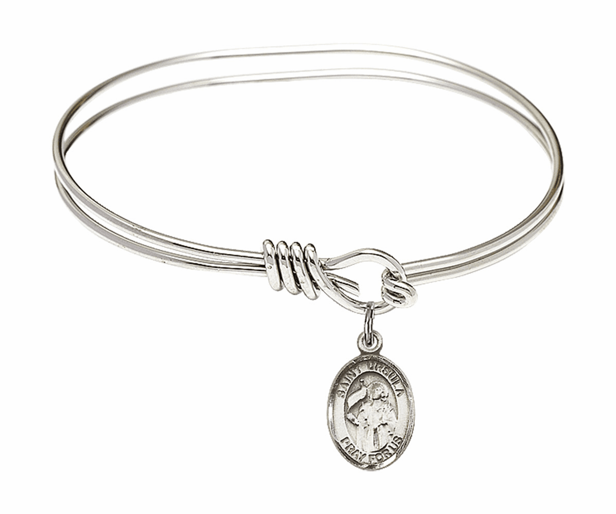 Round Eye Hook St Ursula Bangle Charm Bracelet by Bliss