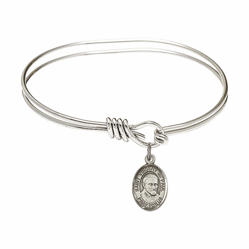 Round Eye Hook St Vincent de Paul Bangle Charm Bracelet by Bliss