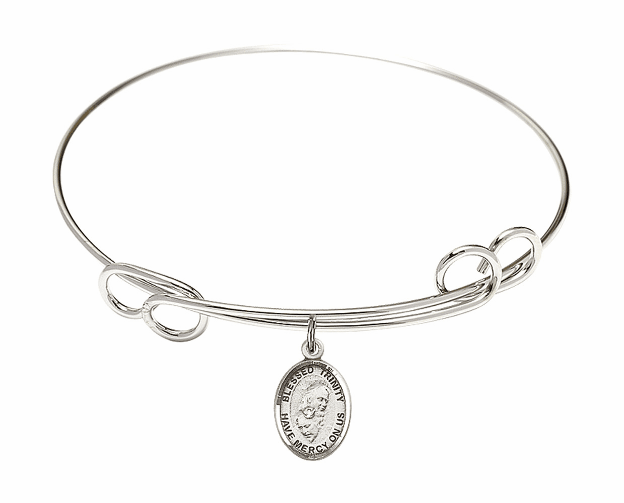 Round Loop Blessed Trinity Bangle Charm Bracelet by Bliss