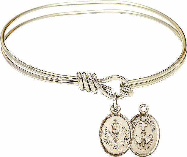 Round Loop Chalice Confirmation Bangle 14kt Gold-filled Charm Bracelet by Bliss