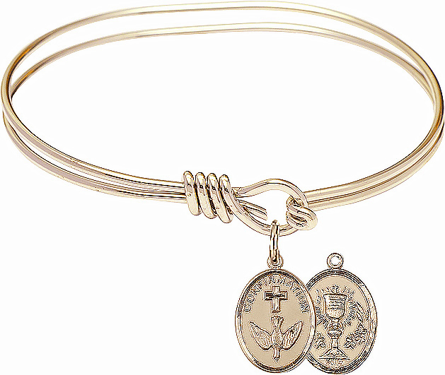 Round Loop Confirmation Chalice Bangle 14kt Gold-filled Charm Bracelet by Bliss