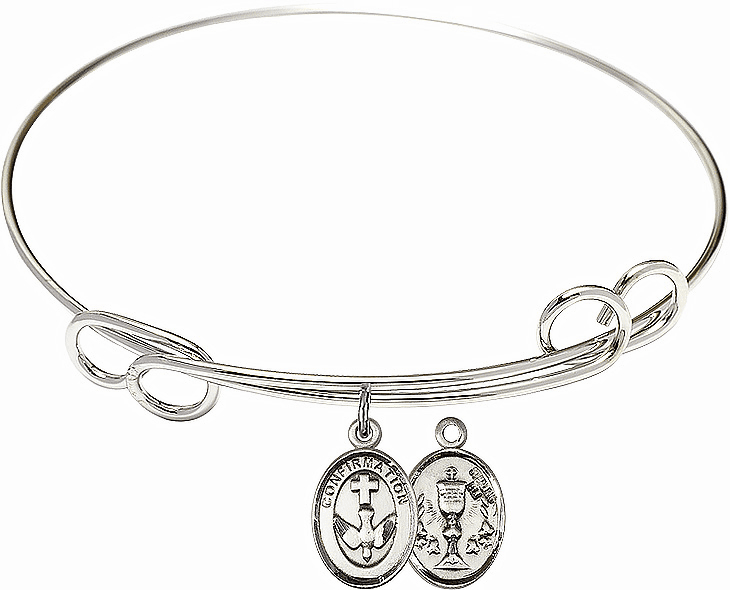 Round Loop Confirmation Chalice Bangle Charm Bracelet by Bliss