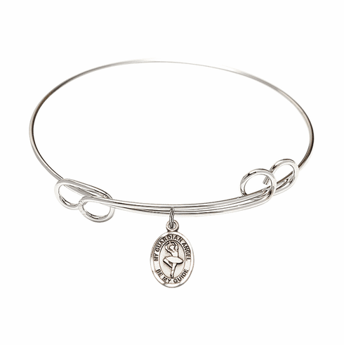 Round Loop Guardian Angel Dance Bangle Charm Bracelet by Bliss