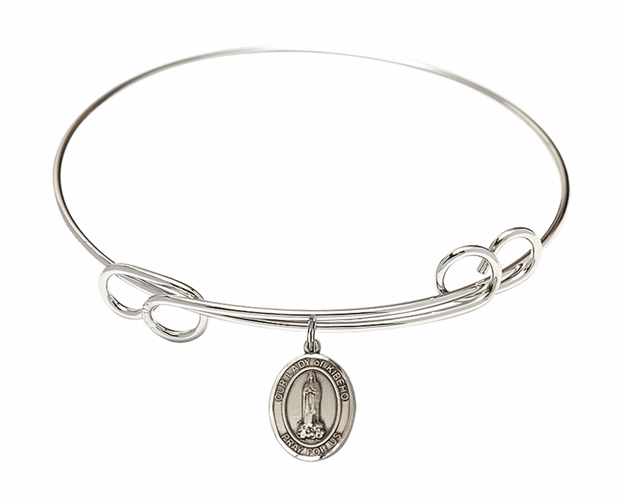 Round Loop Our Lady of Kibeho Bangle Charm Bracelet by Bliss