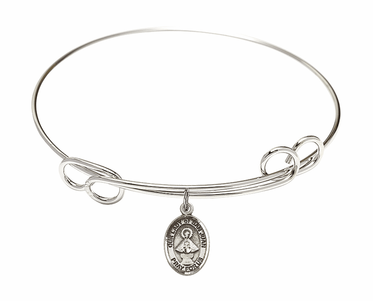 Round Loop Our Lady of San Juan Bangle Charm Bracelet by Bliss