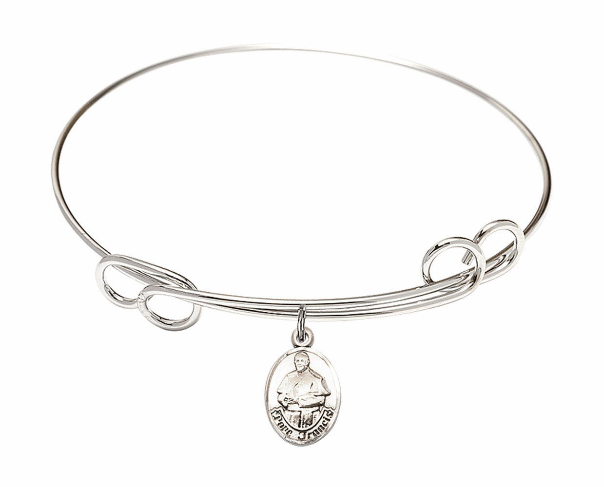 Round Loop Pope Francis Bangle Charm Bracelet by Bliss
