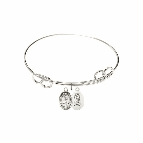 Round Loop Scapular Bangle Charm Bracelet by Bliss