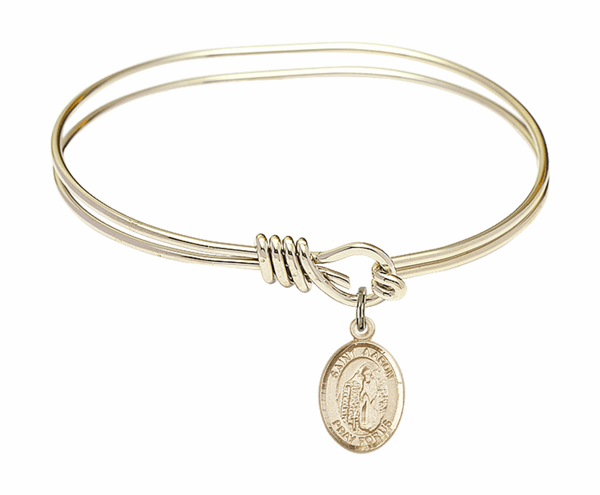 Round Loop St Aaron Bangle 14kt Gold-filled Charm Bracelet by Bliss