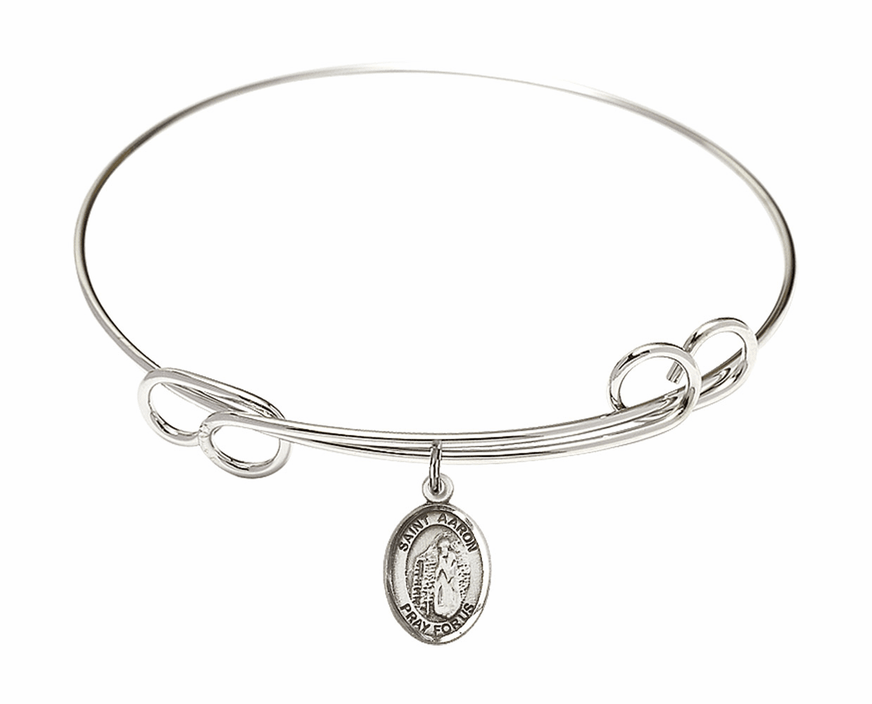 Round Loop St Aaron Bangle Charm Bracelet by Bliss