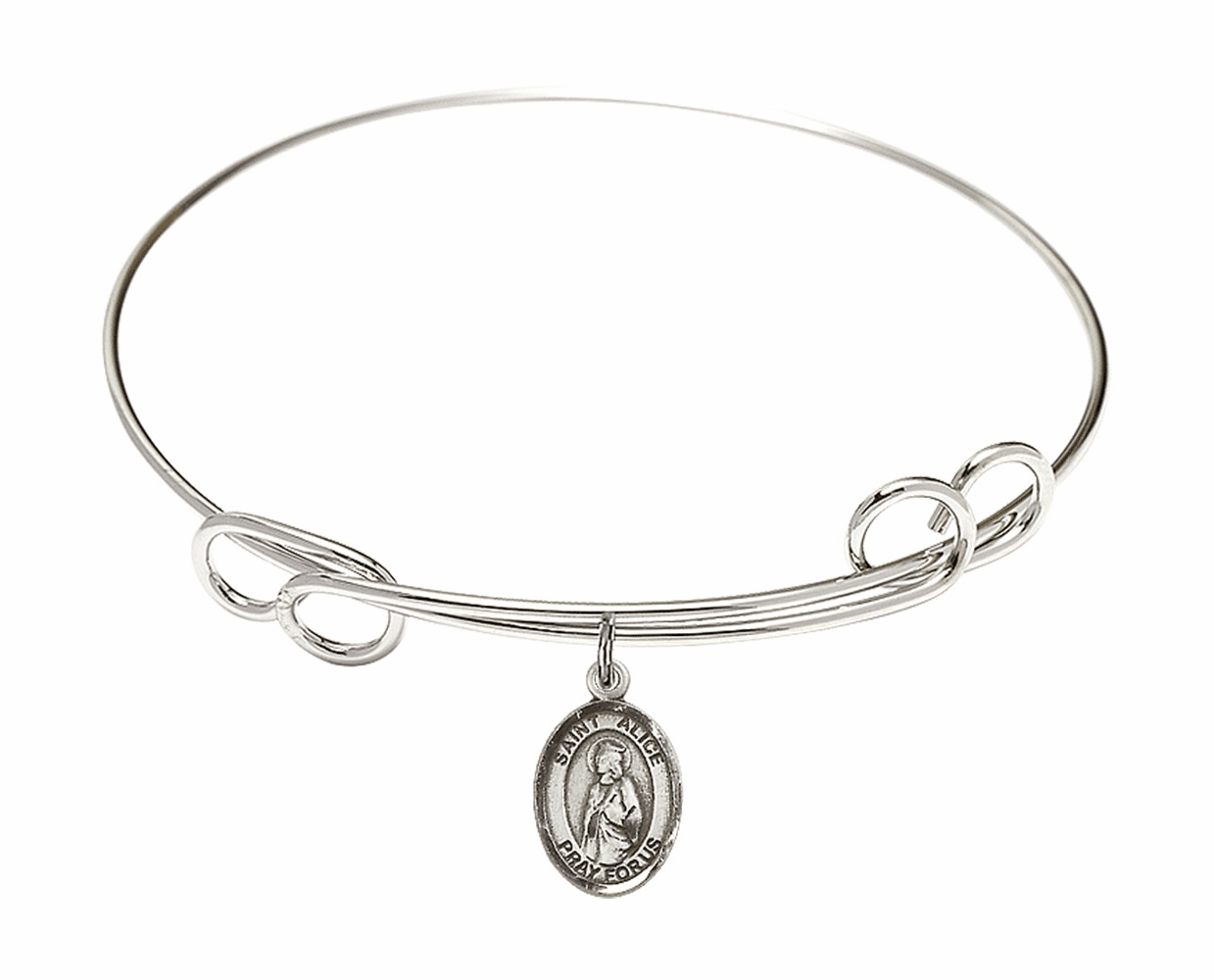 Round Loop St Alice Bangle Charm Bracelet by Bliss