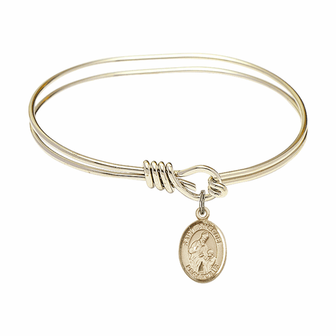 Round Loop St Ambrose Bangle 14kt Gold-filled Charm Bracelet by Bliss