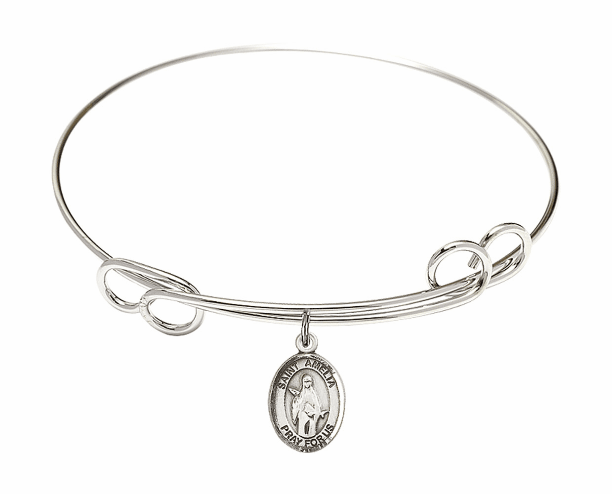 St Amelia Round Loop Bangle Charm Bracelet by Bliss