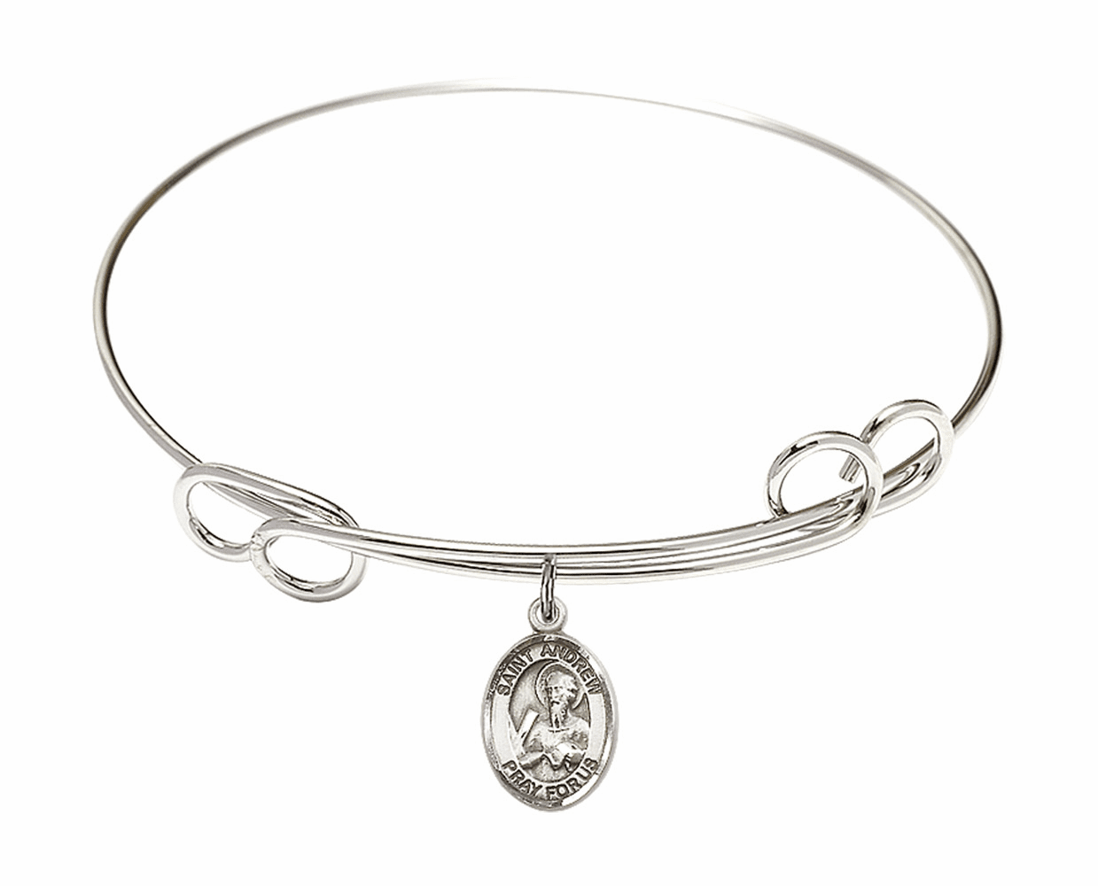 Round Loop St Andrew Bangle Charm Bracelet by Bliss