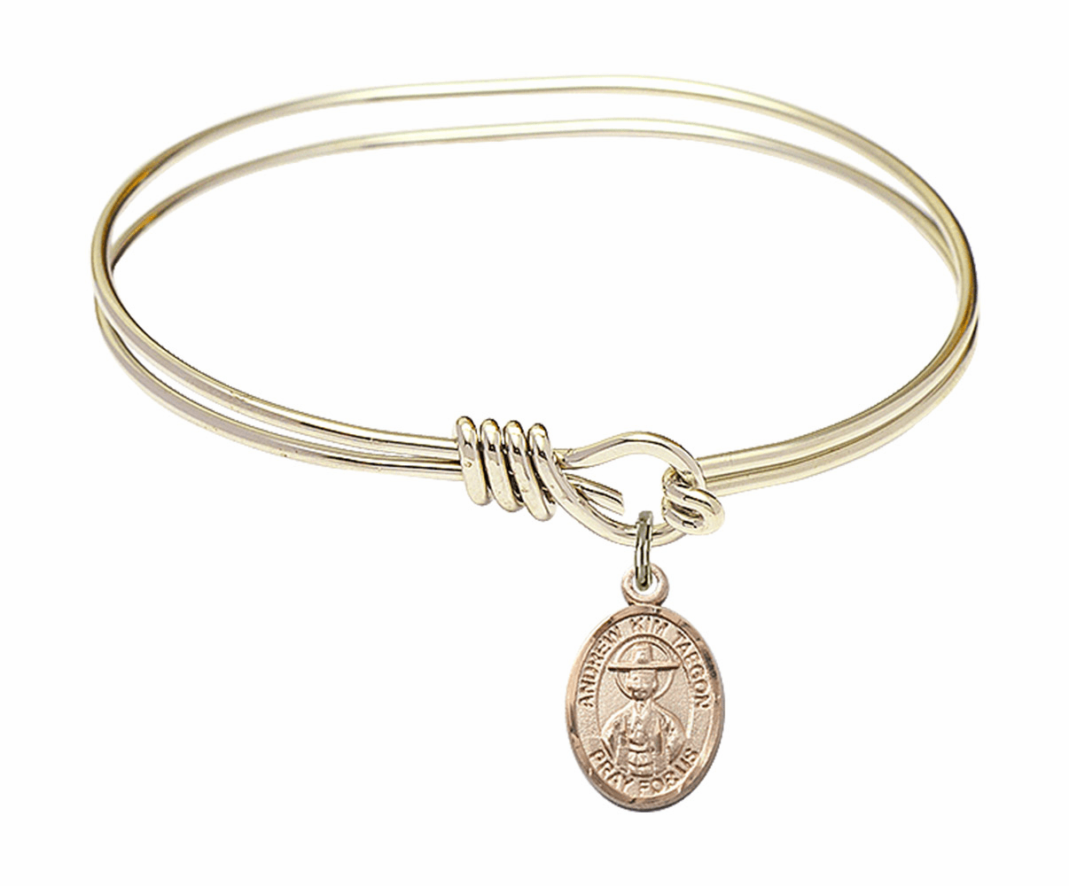 Round Loop St Andrew Kim Taegon Bangle 14kt Gold-filled Charm Bracelet by Bliss