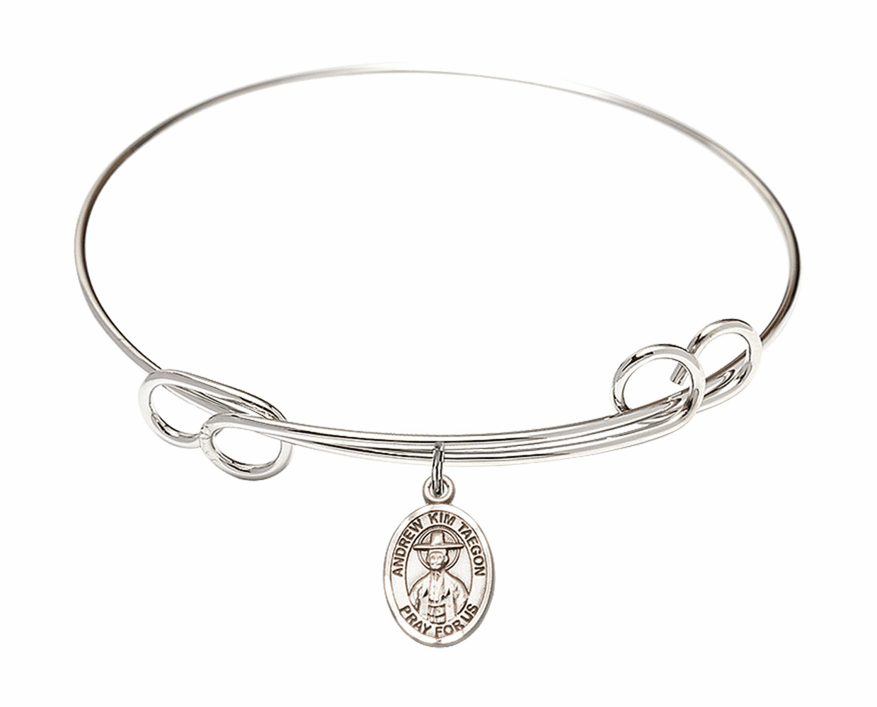 Round Loop St Andrew Kim Taegon Bangle Charm Bracelet by Bliss