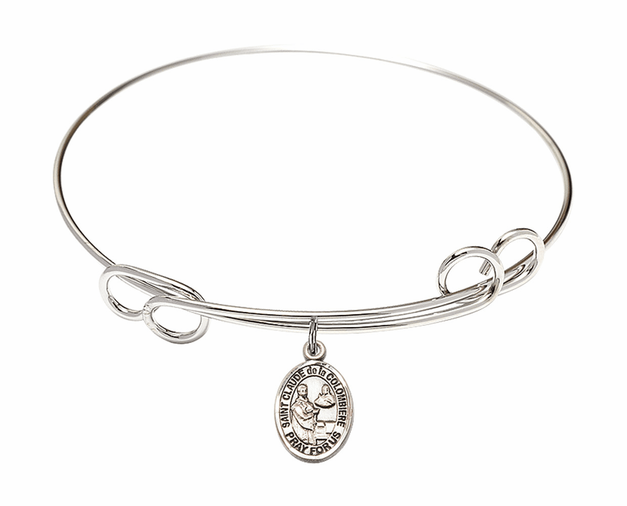 Round Loop St Claude de la Colombiere Bangle Charm Bracelet by Bliss